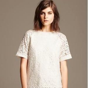 Banana Republic Raglan Lace Top - Size Extra Small